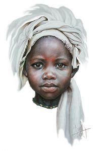 Dora Alis Mera V. Arte pintura retratos niños de áfrica decoración human Анна Д Black Girl Art, Black Women Art, Pencil Portrait, Portrait Art, Watercolor Portraits, Watercolor Art, Drawing Portraits, Art Afro, Afrique Art