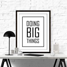 INSPIRATIONAL PRINT - MOTIVATIONAL PRINT - PRINT WALL ART - QUOTE WALL ART - QUOTE ART PRINT - PRINTABLE QUOTES - PRINTABLE ART  ••WHAT YOU WILL GET•• ▶Five High resolution (300DPI) JPEG files ▶Sizes: 4X6, 5X7, 8X10, 11X14 and 16x20 ▶Instant download your files directly from etsy, or from the download link that is sent via email. ▶The colors may vary depending on your screen and the printer.   PLEASE NOTE, THIS IS A DIGITAL DOWNLOAD ONLY. NO PRINTED MATERIALS OR FRAME ARE INCLUDED!  More…