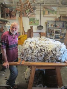 MATTRESS MAKING putting on the washed & carded wool