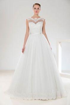 Vestido De Noiva Marfim 2020 Lace Últimas Wedding Moda Bola Vestidos Vestido De Princesa Manga Comprida Noivas Vestido De Cerimónia Igreja Tulle Sheer