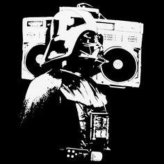 cool DARTH VADER Ghettoblaster T-SHIRT star wars DJ Old School boombox Hip Hop S | eBay