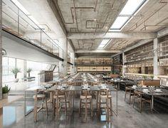Interior renderings Hurghada restaurant on Behance