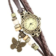 This Retro Rivet Braided Bracelet Leather Strap Butterfly watch is an excellent bracelet style wrist watch. The watch case is made of zinc alloy, uneasy to scra Butterfly Bracelet, Butterfly Jewelry, Different Braids, Leather Box, Braided Bracelets, Fashion Bracelets, Bracelet Watch, Vintage Ladies, Gifts For Her