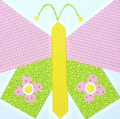 Free pattern link Butterfly Quilt Block by twiddletails, via Flickr