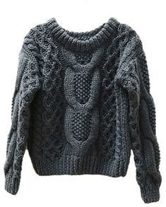 ChicNova Cable Knit Cropped Sweaterr