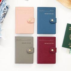 Iconic Snap button RFID blocking passport case - fallindesign