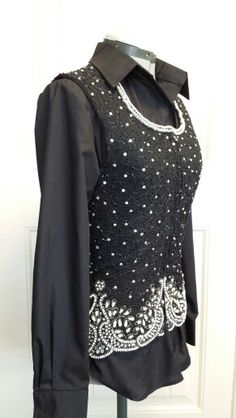 Stunning imported beaded silk vest! Available @ Champion Wear Show Apparel. Size med large.
