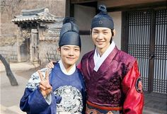 "Leo jin go & lee won geun ""Moon Embrace The Sun"" Lee Min, Lee Won Geun, Jung Il Woo, Ga In, Kpop, Paros, Scene Photo, Korean Drama, Behind The Scenes"
