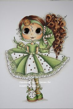 Jills scrappeside: COPIC GREEN DAY FOR KREATIV SCRAPPING