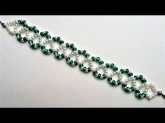 Beaded bracelet tutorial . Easy pattern for beginners - YouTube