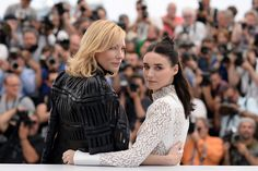 Cate Blanchett and Rooney Mara at the Carol Photocall in Cannes