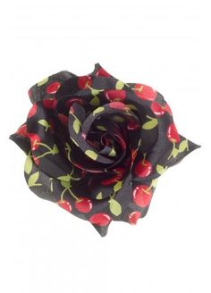 Sourpuss Cherries Hair Rose Clip, £8.99