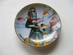 Marineland of the Pacific Souvenir plate 1950s early by Vinphemera
