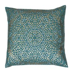 20-in W x 20-in L Turquoise Square Indoor Decorative Pillow