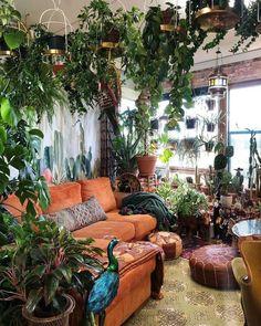 Room With Plants, House Plants Decor, Plant Decor, Living Room Decor, Bedroom Decor, Cozy Bedroom, Deco Retro, Deco Boheme, Indie Room
