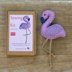 Lilac flamingo sewing gift - Stocking filler – Secret Santa – Party Gifts Lilac Flamingo, felt sewing kit measures 11 x 11 cm (excluding legs) and is easy peasy Flamingo Craft, Flamingo Decor, Pink Flamingos, Sewing Kit, Sewing Basics, Christmas Stocking Fillers, Christmas Stockings, Unicorn Crafts, Felt Decorations