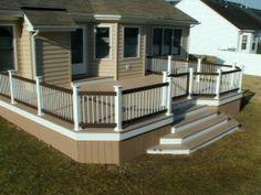 Custom Azek Deck in Virginia Beach. Builder contrator company in Hampton Roads Tidewater, VA.