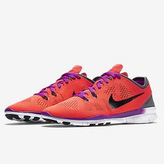 Nike Free 5.0 Tr Fit 5 Womens 704674-801 Orange Purple Training Shoes Size 10