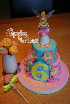 Fairies...yummy Tinker Bell cake.