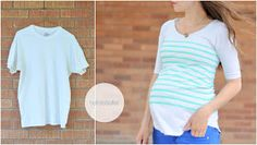 DIY Clothes - How to paint stripes on a t-shirt.