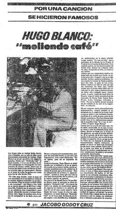 """Hugo Blanco y su pieza """"Moliendo Café"""". Publicado el 31 de octubre de 1976."""