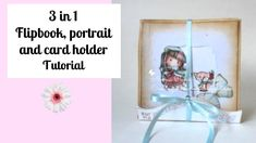 3 in 1 Flipbook, portrait and card holder