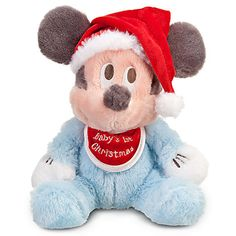 Mickey Mouse Plush - 9'' Baby's 1st Christmas