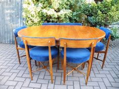 Mid Century Danish 1960s G Plan Fresco Teak Extending Dining Table & 6 Chairs #MidCenturyModern #gplan