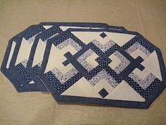 Bicho Carpinteiro Artesanato: Jogo americano em patchwork
