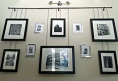 hanging picture frames collage
