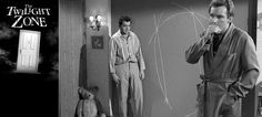 """The Twilight Zone - """"Little Girl Lost"""" (1962)    Outline of the invisible portal to the 4th dimension on the wall... hmmm, indeed."""