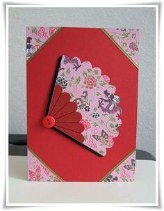 Oriental Fan Card / Cards by Paula