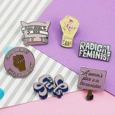Hard Enamel Pin Approx 30mm Part of our Feminist Flair Collection