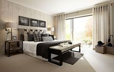 Viera Master Suite by Carlisle Homes #Woodleaestate #CarlisleHomes #land #houseandland #newlandestate #newhome #bedroom #feature #wall