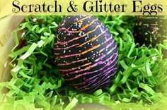 Easter eggs decorations: Scratch and glitter