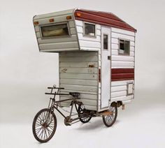 bike camper. - camper - also called pickup camper, truck camper - a trucklike vehicle, van, or trailer that is fitted or suitable for recreational camping, or a pickup truck on which a structure fitted for camping is mounted.