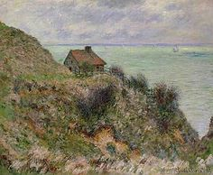 Claude Monet - The Customs Officers' Hut at Pourville, 1882