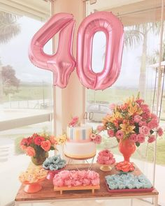 40th Birthday Decorations, Wedding Balloon Decorations, Birthday Party For Teens, Fabulous Birthday, Party Decoration, Wedding Balloons, Birthday Balloons, Birthday Ideas, Mother Birthday