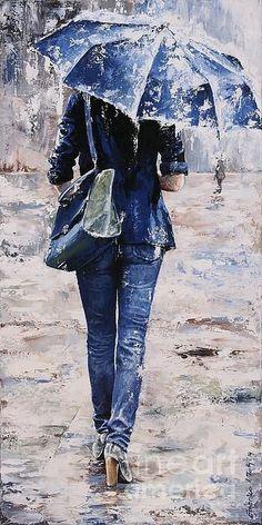 Emerico toth - paintings by emerico imre toth amazing art, rain painting, u Rain Art, Umbrella Art, Umbrella Painting, Walking In The Rain, Beautiful Paintings, Rainy Days, Love Art, Painting & Drawing, Rain Painting
