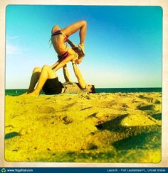 "#Yoga Poses Around the World: ""Acro Scorpion - by Laura B."""