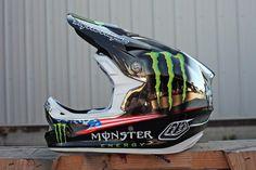 2012 Redbull Rampage Helmets for Cam Zink. Troy Lee Designs D3 helmets.