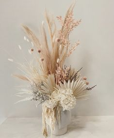 is an Australian based floral goddess who makes the prettiest bunches! How gorg would this be for a boho floral centerpiece or bridal bouquet Dried Flower Arrangements, Vase Arrangements, Flower Vases, Dried Flower Bouquet, Dried Flowers, Deco Floral, Floral Design, Floral Wedding, Wedding Flowers