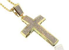 King Johnny - Johnny's Custom Jewelry - 10K Gold 0.80CT Diamond Cross, $899.99 (http://www.johnnyscustomjewelry.com/10k-gold-0-80ct-diamond-cross/)
