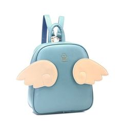 We offer FREE and FAST worldwide shipping for this item. The backpack is sold with 3 pair of wings. Excellent Moooh!! customer service is included in the price too !!  Cute angel backpack, 2014 design. Combine the wings color and give a different look to your cutie bag !! This is functional sho...