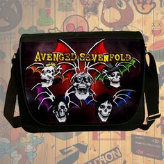 NEW HOT!!! Avenged Sevenfold Messenger Bag, Laptop Bag, School Bag, Sling Bag for Gifts & Fans #01