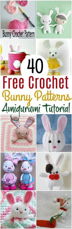 I have prepared a list of 40 free# crochet bunny patterns that will enhance your inner skills and you will be able to make your own amigurumi.
