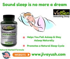 ‪#‎VieBien‬ Refreshing Sleep - 100% American Natural Amazing Sleeping Pills for Sound and Refreshing Sleep.