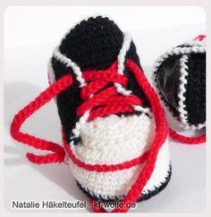 Baby-Schuhe häkeln // Baby-Turnschuhe häkeln