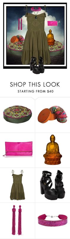 """""""Bohemia Delight"""" by bindingspine ❤ liked on Polyvore featuring NOVICA, ESCADA, Lalique, Topshop, Kenneth Jay Lane, She.Rise and Bling Jewelry"""