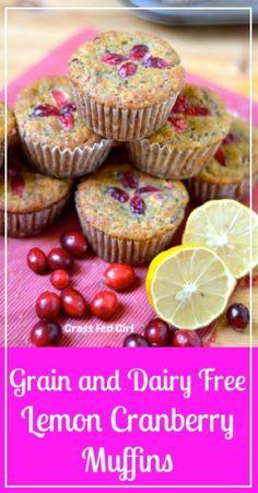 Lemon Cranberry Muffins, Muffins Blueberry, Lemon Muffins, Zucchini Muffins, Paleo Baking, Gluten Free Baking, Paleo Dessert, Dessert Recipes, Keto Desserts